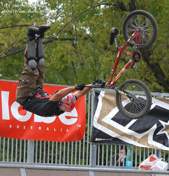 a bmx rider having crash during competition in seeking critique ursu mihail