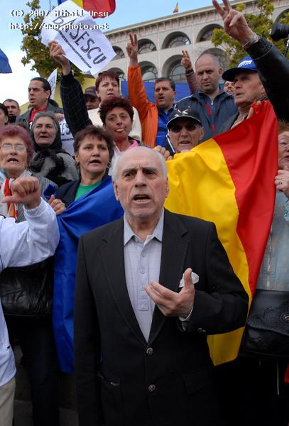 a rally in support of the president romania mr seeking critique ursu mihail