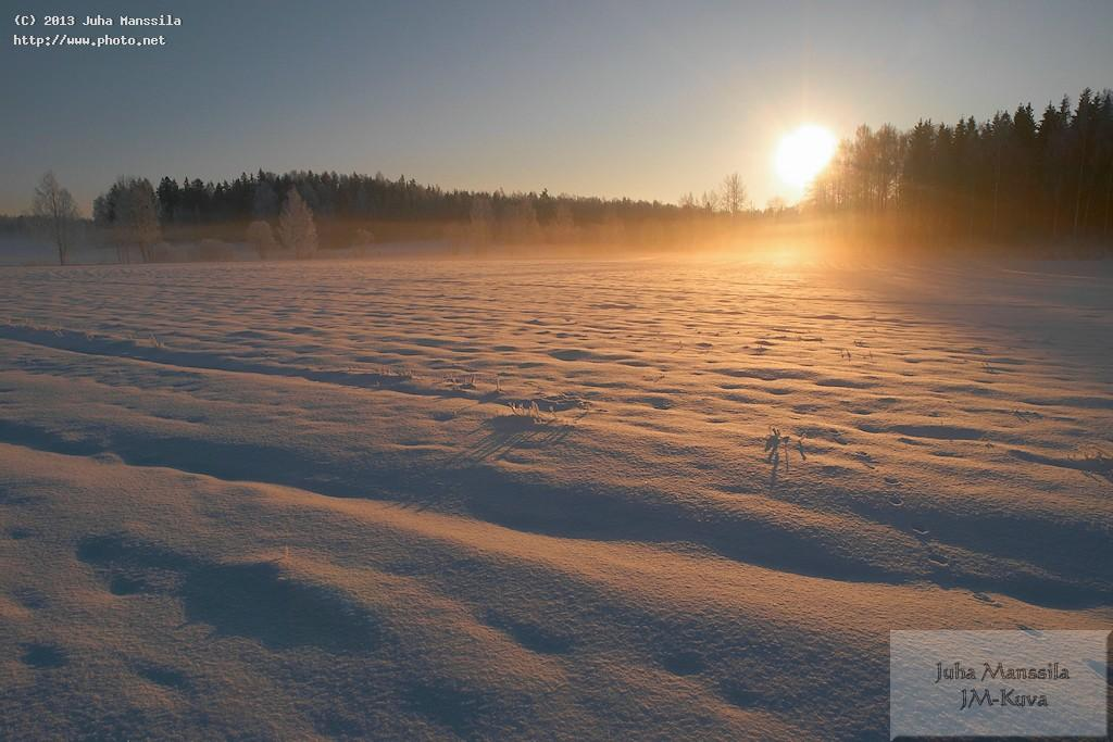 a winter sunrise nature landscape manssila juha