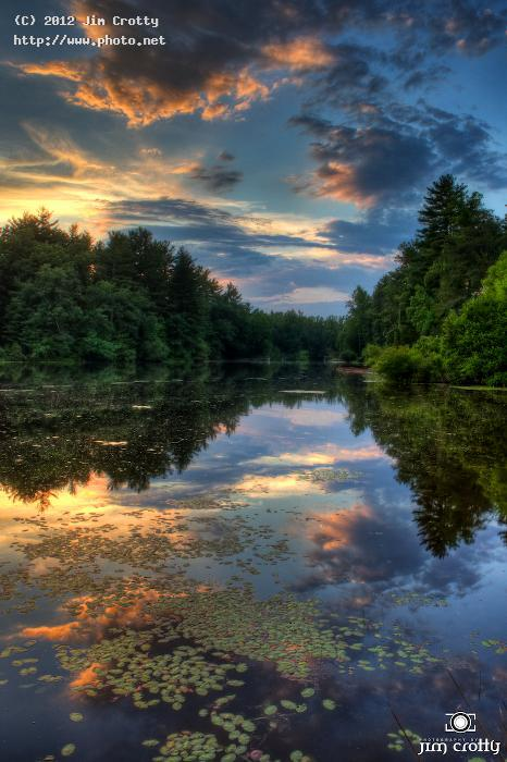 after the storm crotty jim carolina north hdr rural pond sunset re