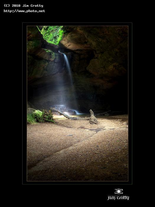 at the end of trail art waterfall stream woodland nature landscape bea crotty jim