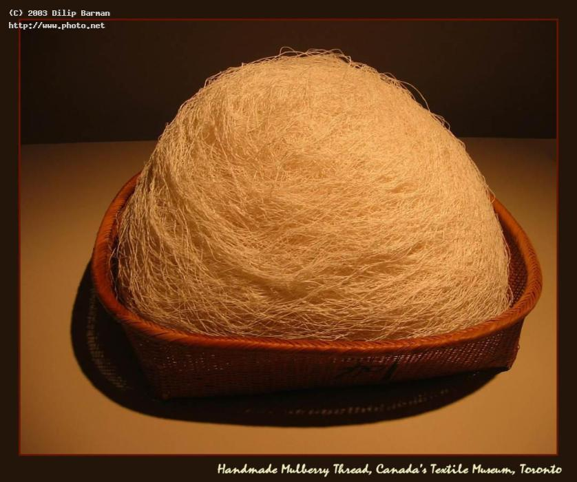basket of handmade mulberry thread canadas textile barman dilip