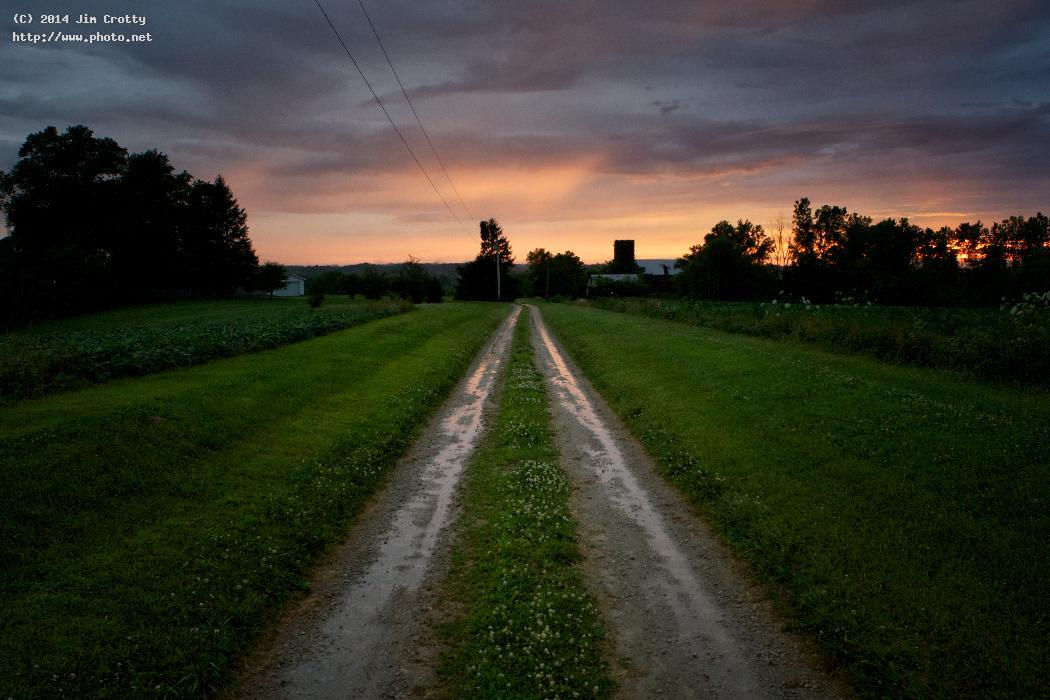 coming home by jim crotty journey summer rural ohio road sunset greene count