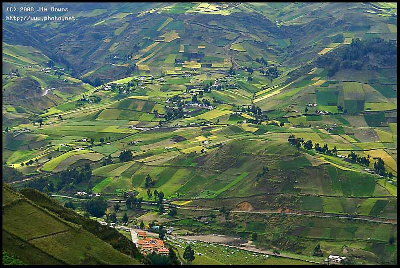 crops serenity in a high andes valley sony f quilotoa loop downs jim