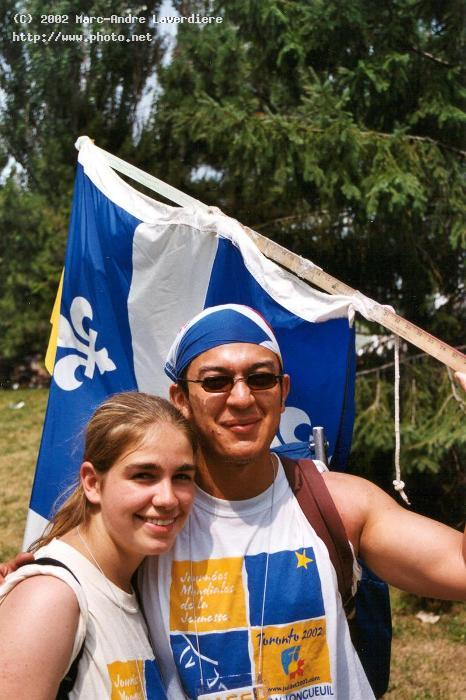 cute couple and a flag laverdiere marc andre