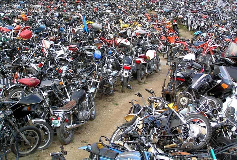 cycle cemetery motorcycles parts graveyard seeking critique downs jim