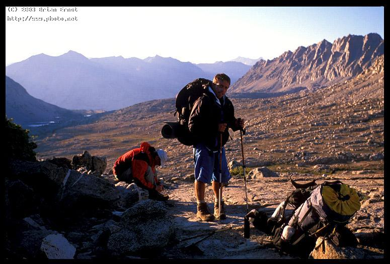 dave and jim atop pinchot pass high sierra ernst brian