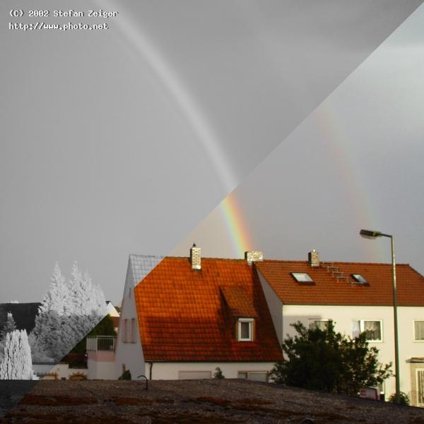 double rainbow in color and infrared zeiger stefan