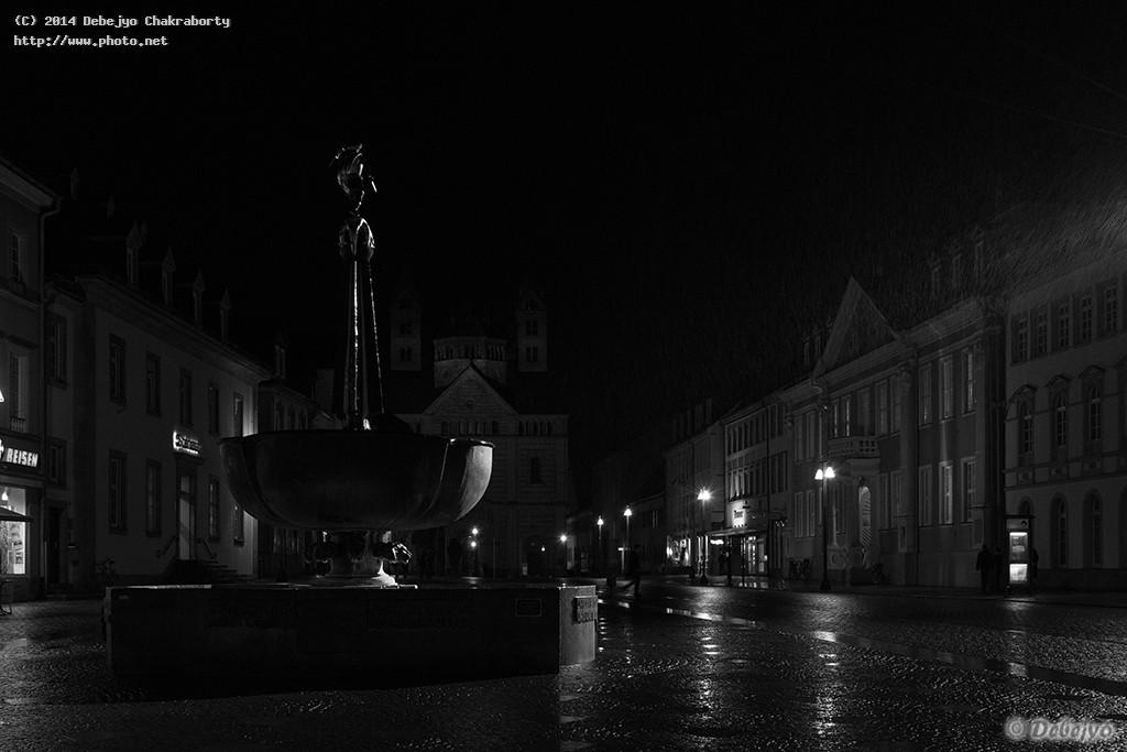 downtown speyer on a raining evening chakraborty debejyo