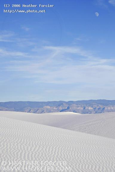 dunes mountains and moon white sands forcier heather