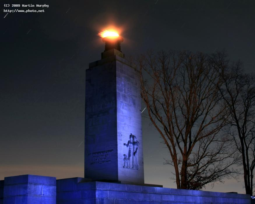 Image result for peace light at gettysburg at night photos