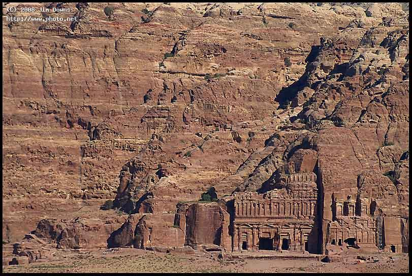 facade carvings in the cliff face petra sony alpha dslr a downs jim