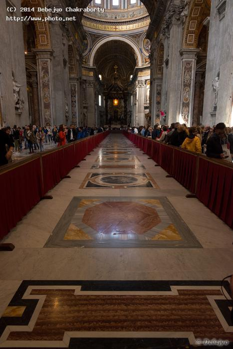 floor at st peters basilica chakraborty debejyo