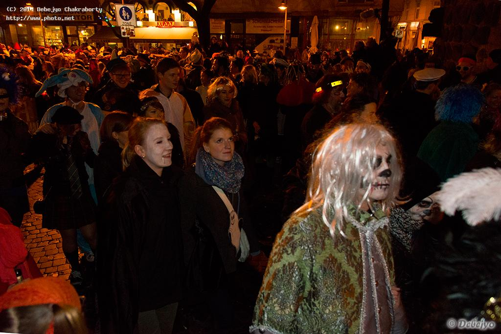 ghost parade saturday in cologne chakraborty debejyo