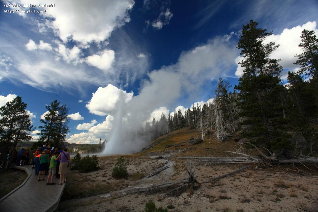 grand geyser erupting yellowstone national park szulecki joshua