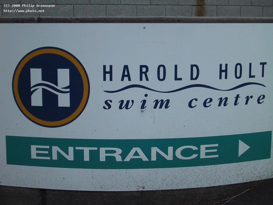 harold holt swimming pool sign the is a memor greenspun philip