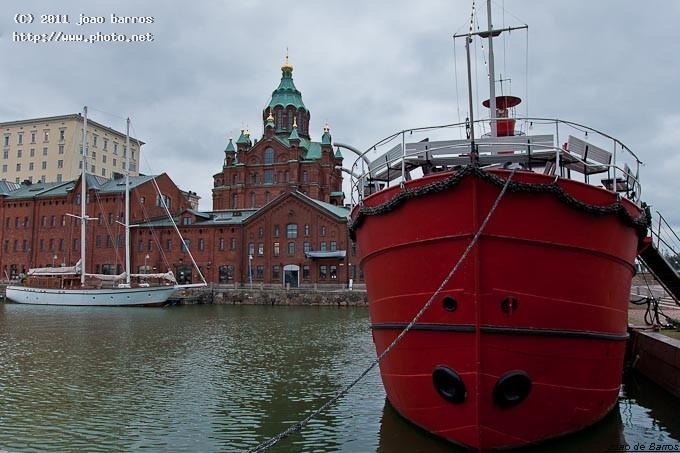 helsinki harbour and uspenski cathedral maritime ship yacht barros joao