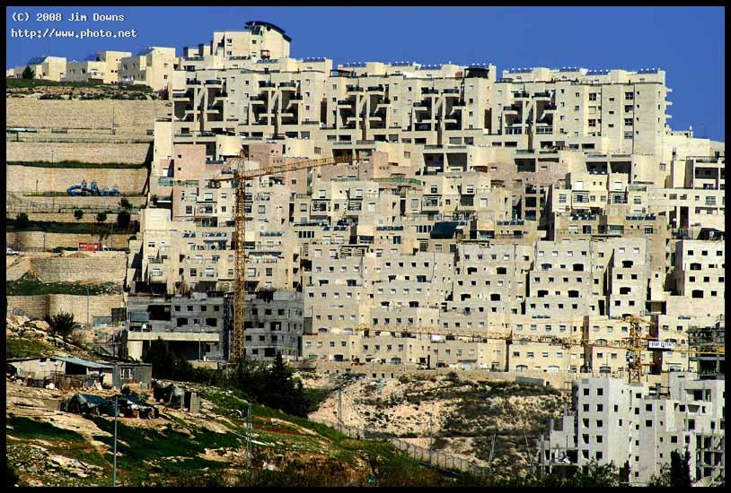 israeli settlement stacked above palestinian apart apartment b downs jim