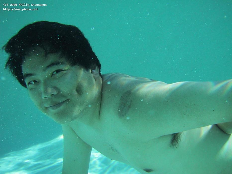 jin underwater in the pool greenspun philip