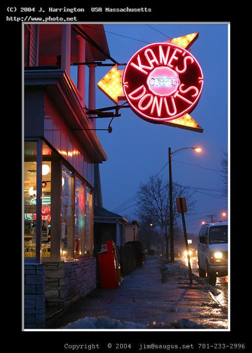 kanes donuts i had no intention of taking this p coffee doughnuts rain sign nigh harrington usa massachusetts j