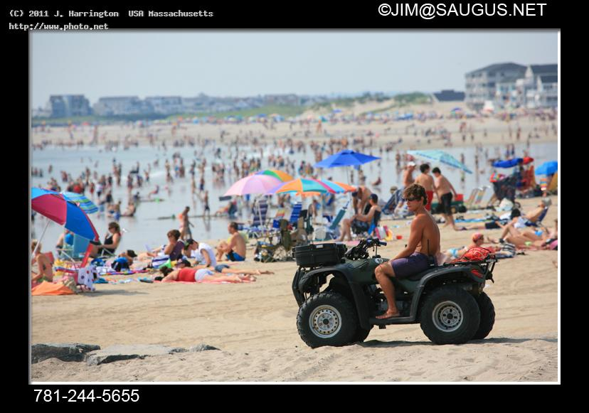 life guard atv hampton beach nh stock photos swim cancer sunglasses new hampshire vacation harrington usa massachusetts j