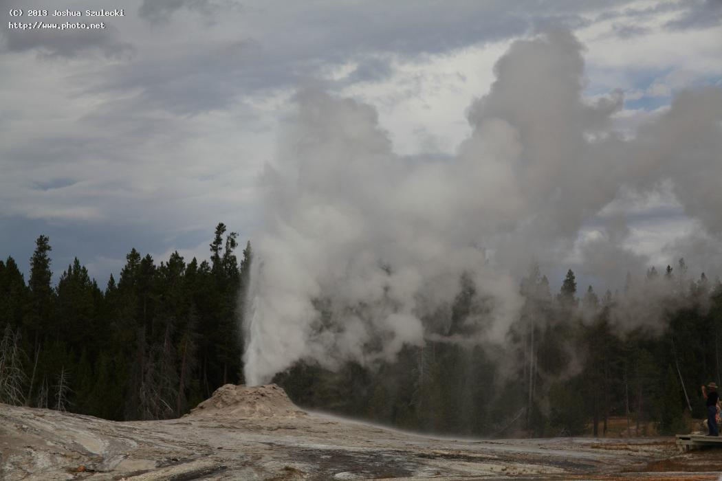 lion group geyser erupting upper basin szulecki joshua