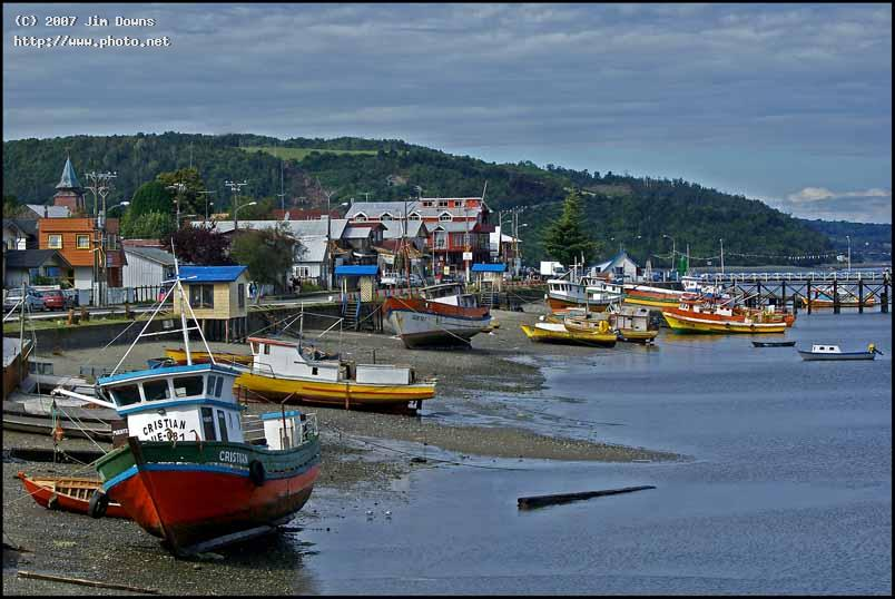 low tide at a chilean fishing village chiloe chile seeking critique downs jim