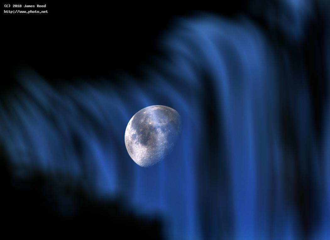 moon through a waterfall sky astronomy space i am fascinated with viewing the palm reed james
