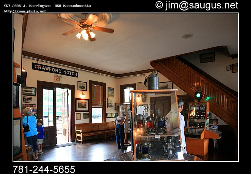 north conway train station interior canon mm fl tr harrington usa massachusetts j
