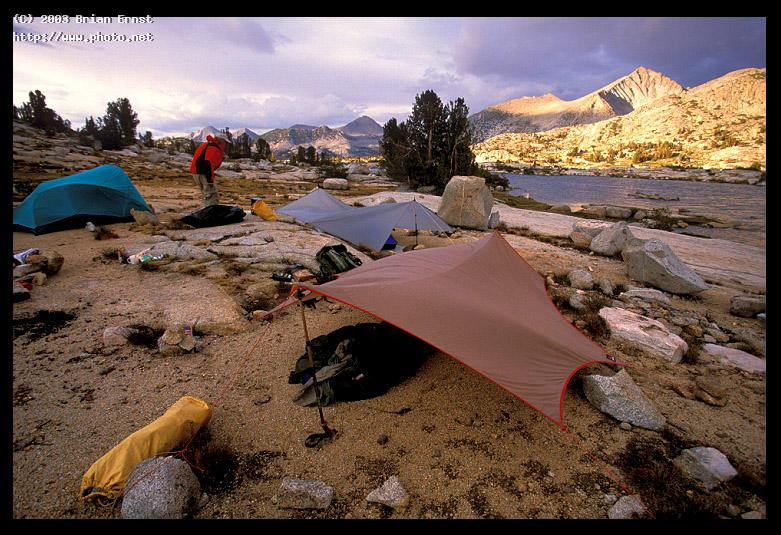 our camp at marie lake wilderness muir john canon ef l f fuji ernst brian
