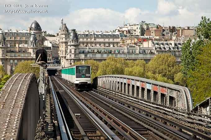 paris bir hakeim metro station town train barros joao