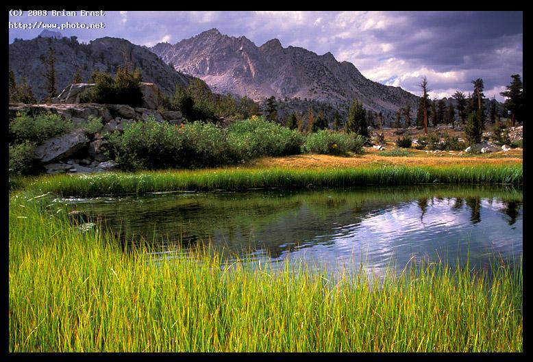 pond between dollar lake and arrowhead rae la lakes basin kings canyon national park canon eos e ernst brian