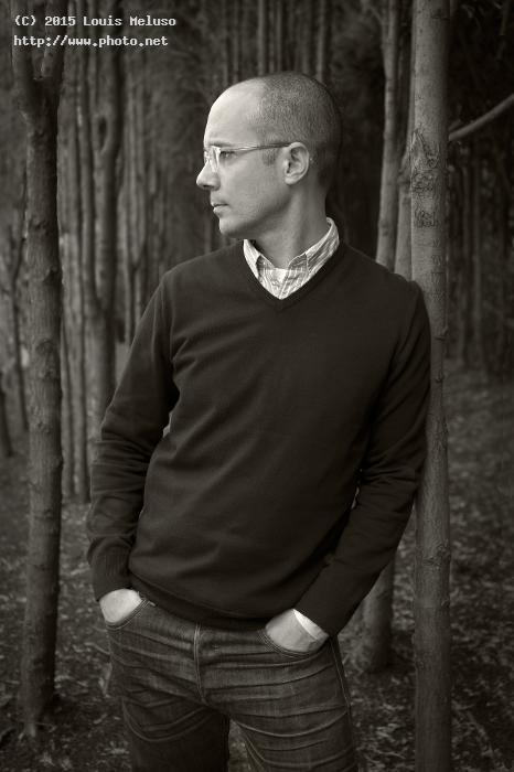 portrait of jamison in the woods sony a f zeiss mm bw meluso louis