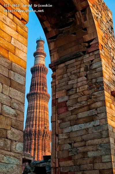 qutb minar peaking out gricoskie jared