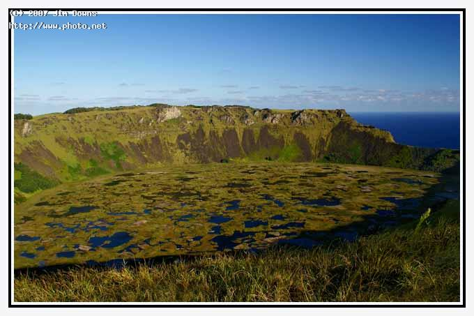 rano kau crater on easter island seeking critique downs jim