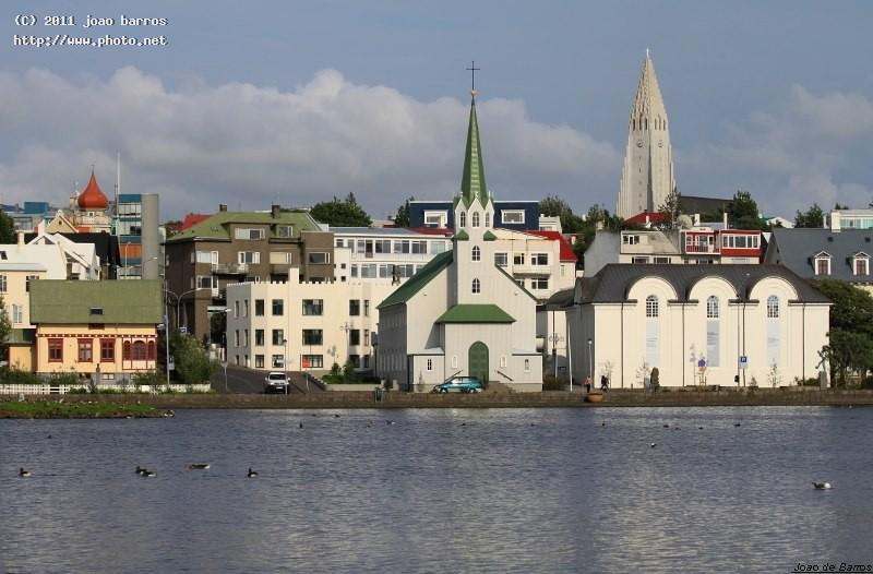 reykjavik town church iceland cathedral barros joao