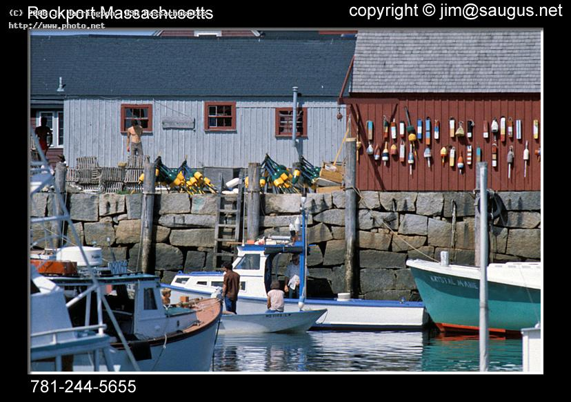 rockport massachusetts stock photo fishing boats p harrington usa j