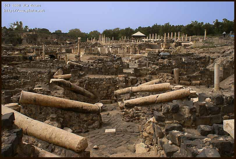 roman ruins at beit shean sony alpha dslr downs jim