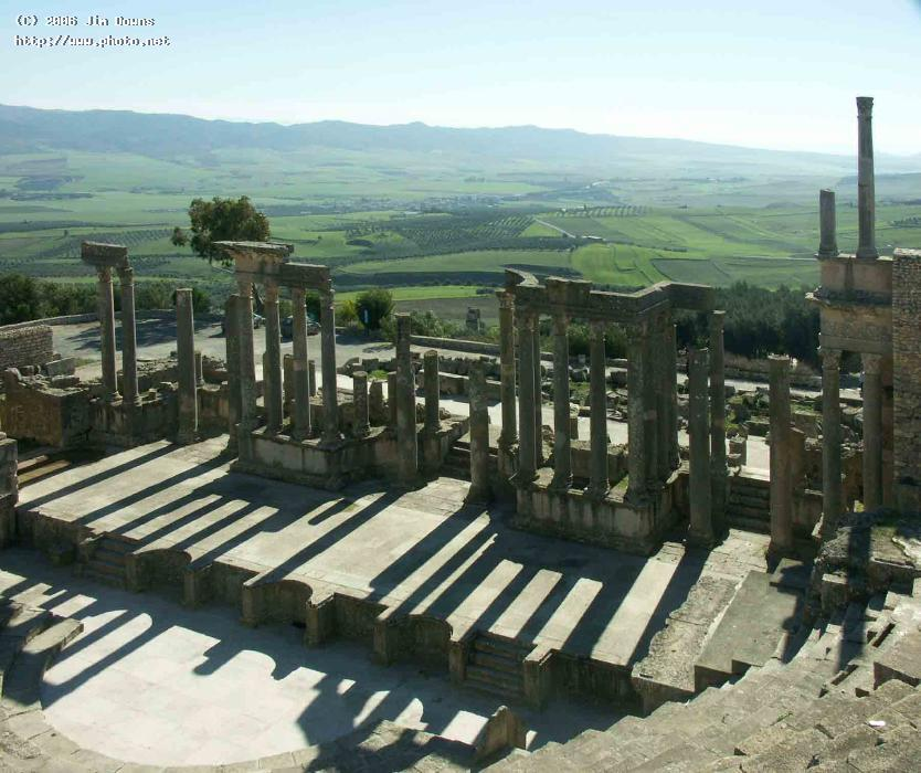 roman theater at dougga tunisia ruins seeking critique downs jim
