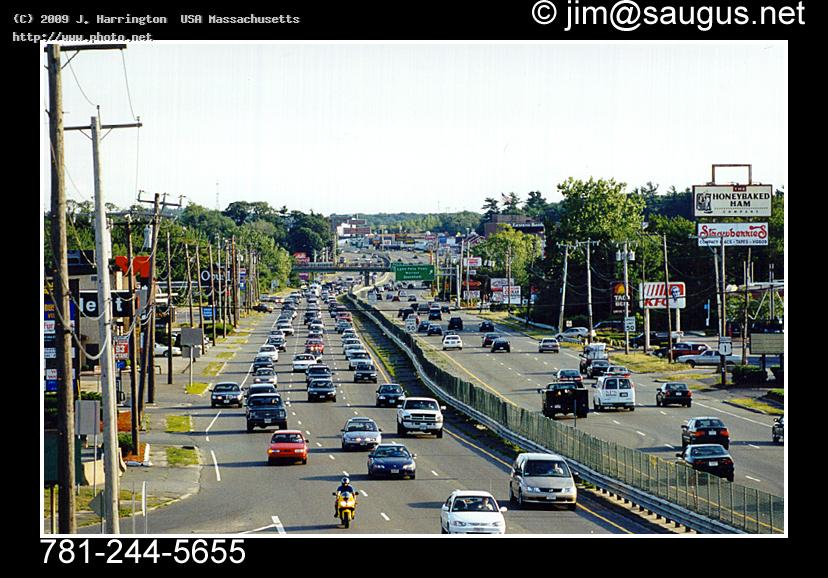 route highway us saugus massachusetts traffic canon harrington usa j