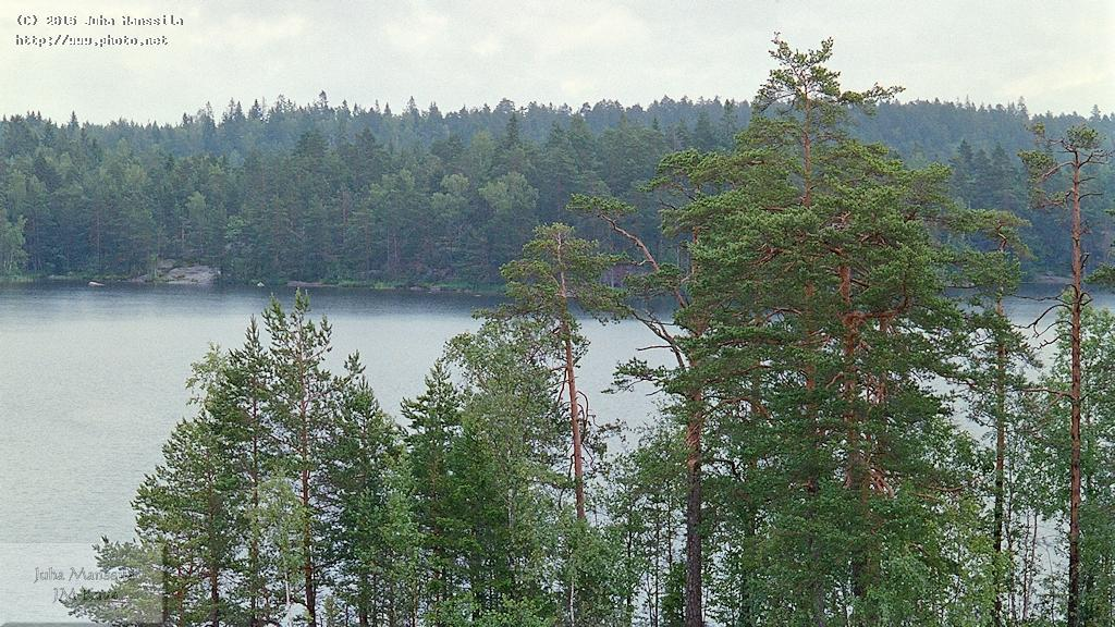 s landscape scenery lake forest nature manssila juha