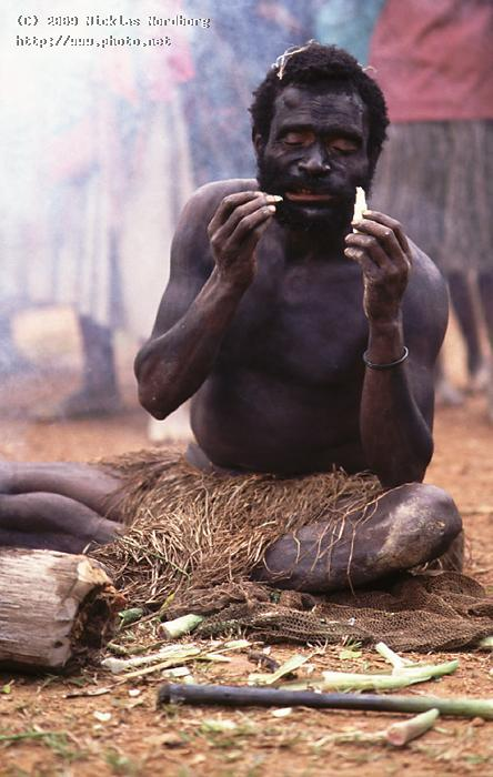 sad man cooking papua native seeking critique nordborg nicklas