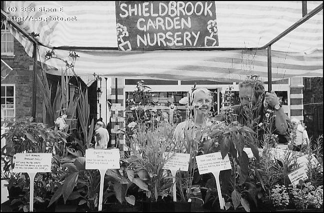 shieldbrook nursery stall at church stretton food fay evans simon
