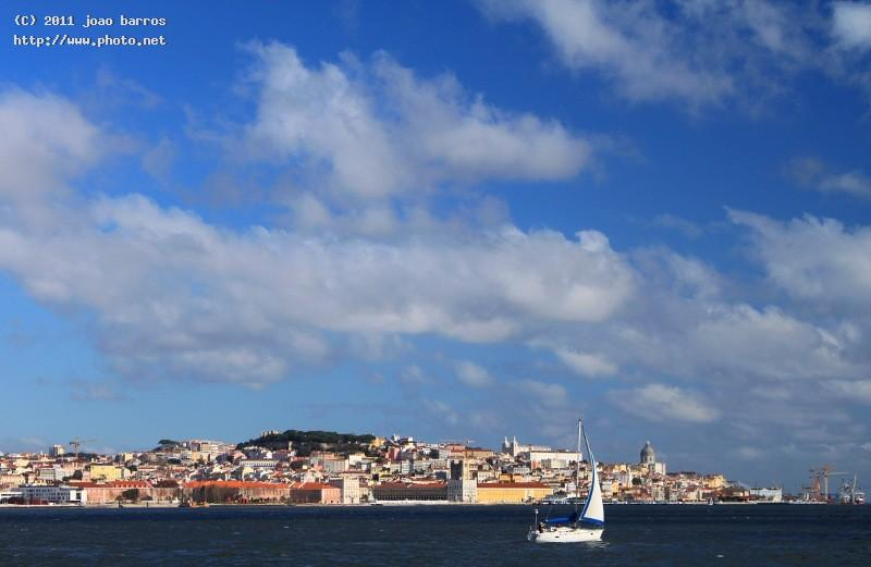 shot from the southern side of river tagus lisboa lisbon portugal tejo barros joao