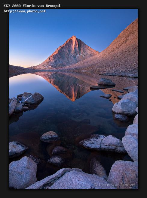 sierra diamond california mountain peak sunrise reflection dawn g van breugel floris