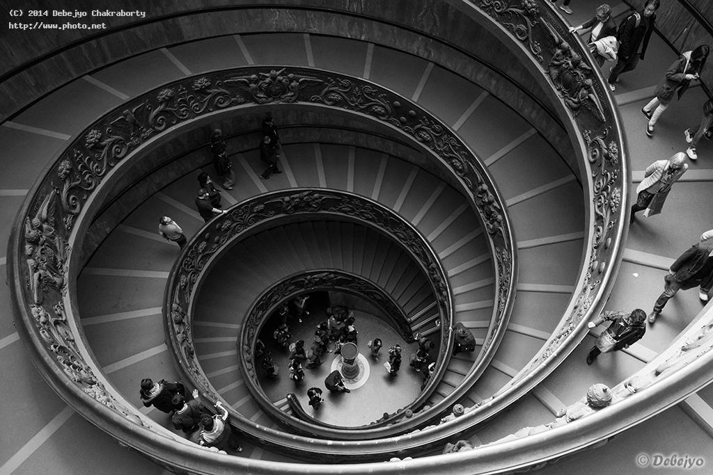 spiral staircase of the vatican museum chakraborty debejyo
