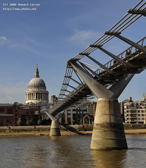 st pauls cathedral the singing bridge tide thames low c carson howard