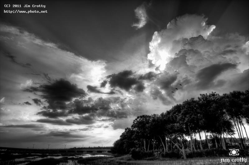 storm clouds at sunset landscape black white photography beauty calm peac crotty jim