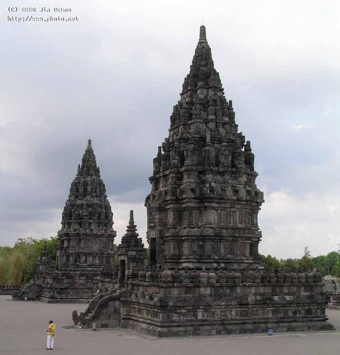 temples at the th c prambanan hindu site in java i seeking critique downs jim