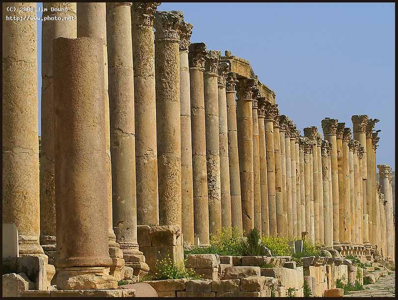 the cardo market street at jerash jordan sony alph downs jim